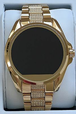 NEW MICHAEL KORS Access Gold Glitz Bradshaw Touch Screen Smartwatch MKT5002 $395
