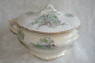 Antique VTG Revere Floral Chamber Pot Lid Lidded Ornate embossed hand painted