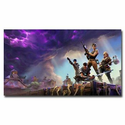 Fortnite Battle Royale 12x21inch Video Game Silk Poster Room Decoration