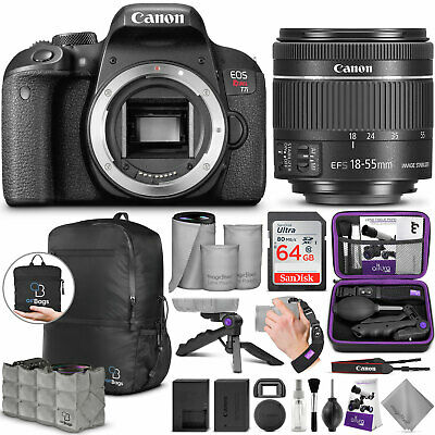 Canon EOS Rebel T7i DSLR Camera with 18-55mm IS STM Lens with Advanced Bundle