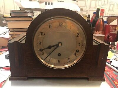 Antique Garrard Chiming  Mantel Clock And Key Made In 1931