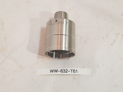 "New Stainless Steel Antenna Mount Base 1""x 2"" Male- Female Threaded"