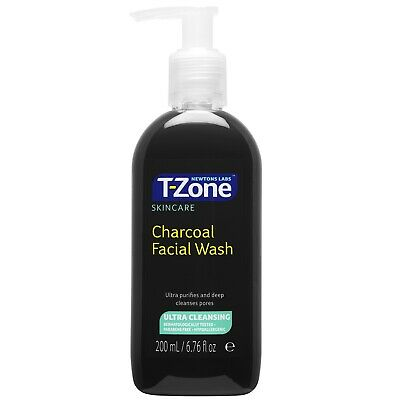 Newtons Labs T-Zone Charcoal Facial Wash Deep Cleansing Pores Purifing 200 ml