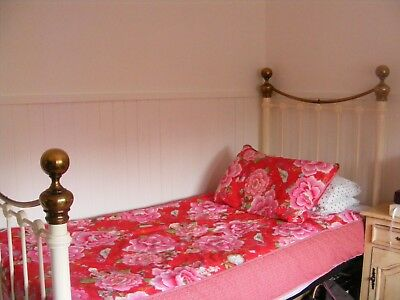 The Original Bedstead Co  Brass & Iron Metal Ivory Bed Frame Single