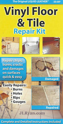Liquid Leather Vinyl Floor and Tile Repair Kit - NEW, Fast Shipping!