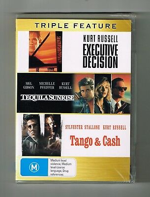 Executive Decision / Tequila Sunrise / Tango & Cash (3-Movies) Dvds New & Sealed