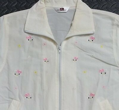 Hello Kitty Vintage Jacket Windbreaker S/M Women's Jiazumei Japan Sanrio