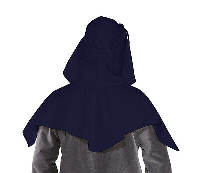 Navy Viking Womans Hood LARP Multi Color Options Renaissance Faire Saxon Theater