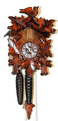 Lovely Hand Carved One Day D. Hones German Black Forest Cuckoo Clock!