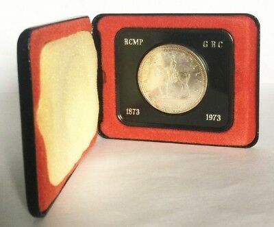 1973 Rcmp Mounties Canada Silver Dollar With Box Exact Shown - Free Shipping