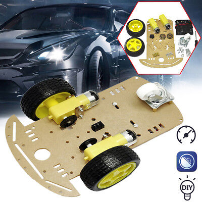 Smart Car Tracking Motor Smart Robot Car Chassis 2WD Kit Ultrasonic HC-SR04 U8V0