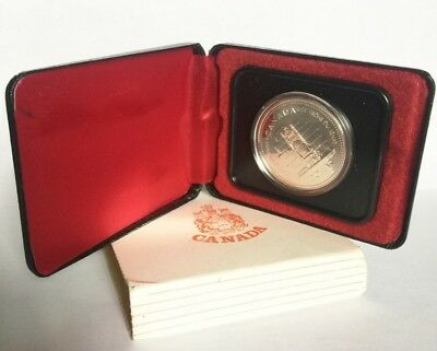 1977 Throne Of The Senate Canada Silver Dollar With Box - Free Shipping