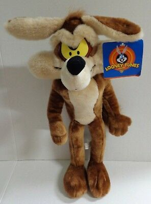 """Ace Play By Play Looney Tunes Wile E Coyote Plush 18"""" 1997 with Tags"""