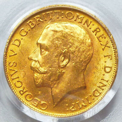 Canada Gold Sovereign 1918-C MS 63 PCGS