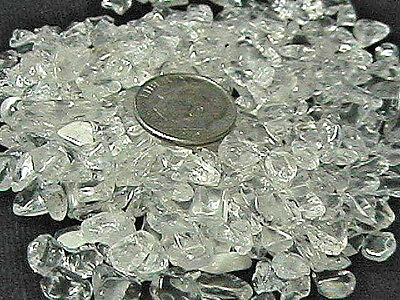 Gemstone Embellishment Rock Crystal Clear Quartz Small UNDRILLED Chips 50g