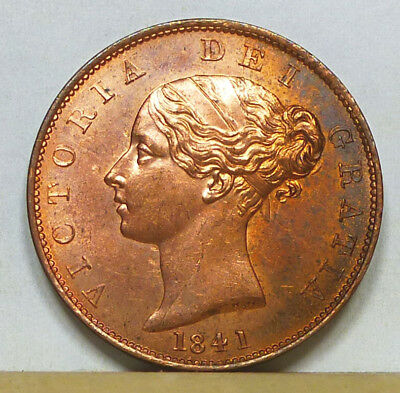 Great Britain Half Penny 1841 MS 63 Red and Brown NGC