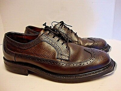 VINTAGE STUART HOLMES 8.5 D LEATHER WINGTIP TAP DANCE SHOES Staccato Selva taps