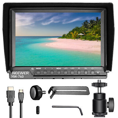 "Neewer NW-760(C) Camera Field Monitor 7"" IPS Screen 1080P HD HDMI for DSLR"