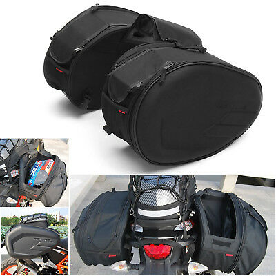 36-58L Universal Motorcycle Pannier Bags Luggage Saddle Bags with Rain Cover