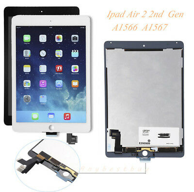 LCD Screen Touch Digitizer Assembly Parts For iPad Air 2 2nd Gen A1567 A1566 US