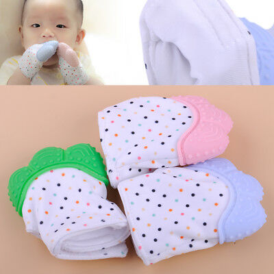 Silicone Baby Mitts Teething Mitten Gloves Candy Wrapper Sound Teether