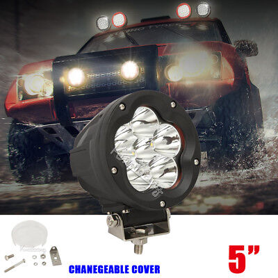 5INCH 600W CREE Spot Flood Beam LED Driving Light For SUV Offroad HID 4X4 4WD