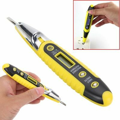 LCD AC/DC 12~250V Non-Contact Electric Test Pen Voltage Digital Detector Tester