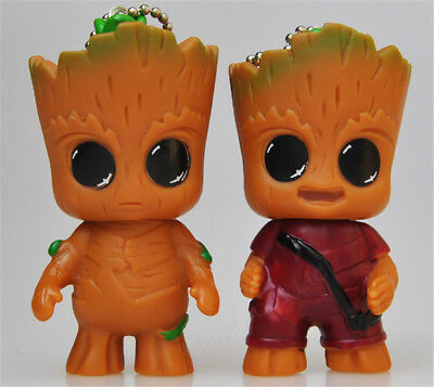 In Box Guardians of the Galaxy Vol.2 Baby Groot Welle Hand Key Chain Figur NEU