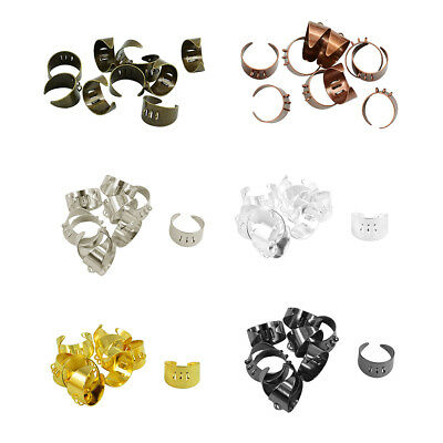 10pcs Adjustable Blank Rings Base Settings Findings Jewelry Making Accessories