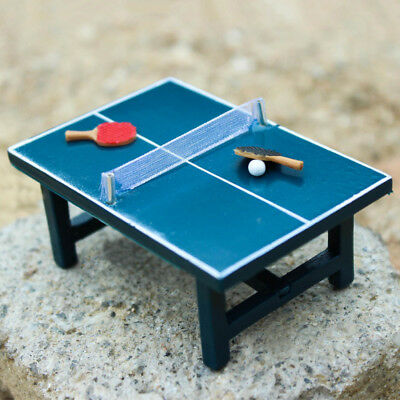 Mini Table Tennis Table 1:12 Miniature Dollhouse Decoration Kids Toy Gift Eyeful