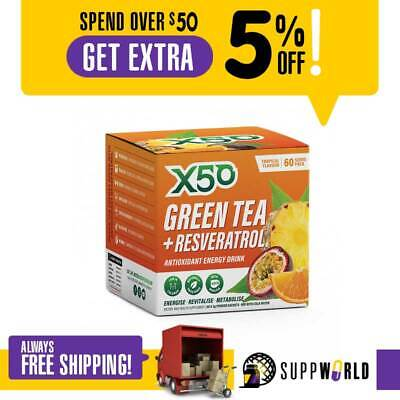 Green Tea X50 Weight Loss Energy Drink - 60 Serves - FREE SHIPPING
