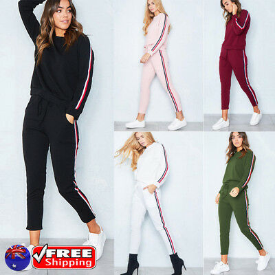 AU Women Tracksuit Sweater Sweatshirt & Pants Set Sport Wear Gym Suits Plus Size