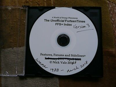 Fortean Times Magazine: Unofficial Features, Forums and Sidelines Index, on CD