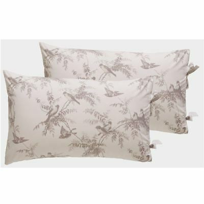 Holly Willoughby Fauna Housewife Pillowcase Pair - 2 Pieces 100% Cotton Birds