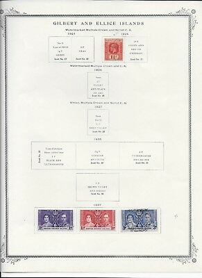 Gilbert & Ellice Islands 1918 - 1946 Lot Collection Of 14 Stamps 3 Ss