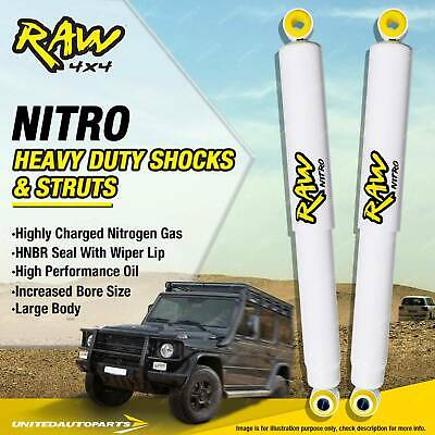 NISSAN NAVARA D22 Pair Front Raw 4x4 Nitro Shock Absorbers 2 Inch Lift