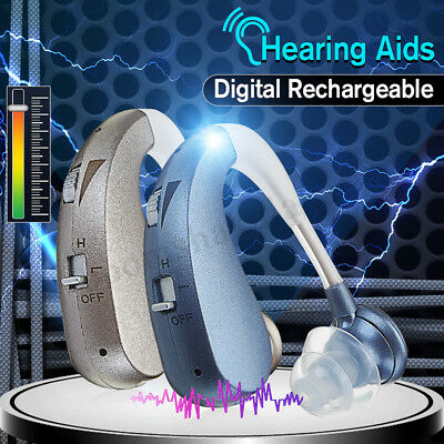 AU Digital Hearing Aid Aids Mini Ear Sound Amplifier Adjustable Tone Lightweight