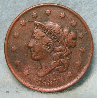 1837 Coronet Head Large Cent CHOICE XF Details * US Coin *