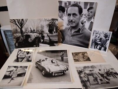 8 Vintage Original B/W Racing Car Photographs with Famous People,See Listing!