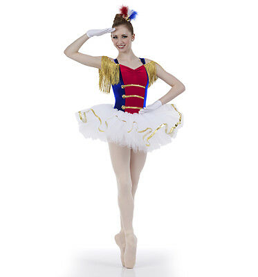Creations by Cicci Salute ballet costume Size Adult Medium Style BL8-902 EUC