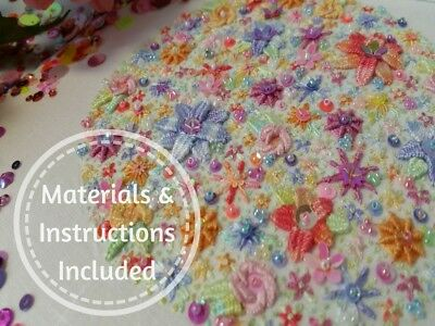 Maud Traditional Embroidery Kit Learn Woven Stitches Kits By