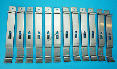 10 x SQUARE Stainless Steel Number Plate Spring Bracket Clips Trailer Horse Box