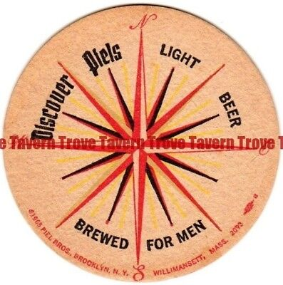 1940s New York PIELS BEER Compass Rose 4 inch Coaster