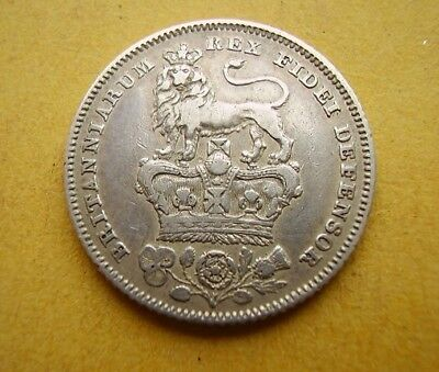1826 George IV Sixpence - Lion on Crown - 2nd Head, 3rd Reverse ESC1662 (1992)
