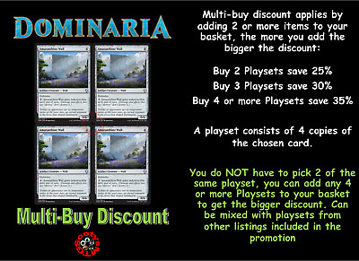 MTG Dominaria DOM Choose your Uncommon Playset (x 4 cards) In Stock
