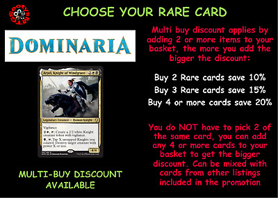 MTG Dominaria DOM Choose your Rare Card - New - In Stock Buy 2 or more save 10%