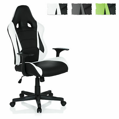 hjh OFFICE Gaming Chair GT RACER Faux Leather high backrest Office Racing Chair