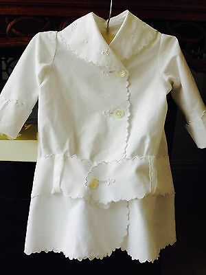 Antique Baby Coat Victorian  1880 Hand Embroidered Costume, Museum, Collection