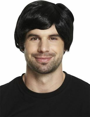 Boy Band Black 60s 70s 80s Mens Adult Male Guy Short Wig Fancy Dress Accessory
