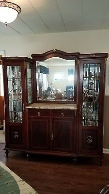 Antique Dining Room Marble Top Hutch Buffet circa 1900 *Local Pick Up Only*